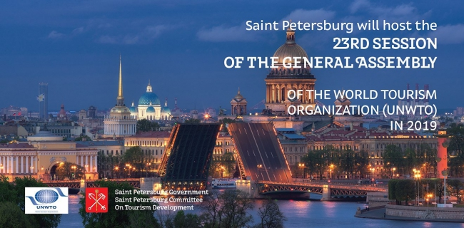 Saint Petersburg will host the General Assembly of the World Tourism Organization in 2019