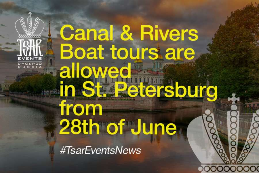 Great News! Canal & Rivers Boat tours are allowed in St. Petersburg from  28th of June