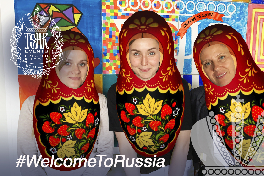 "Tsar Events Russia DMC & PCO Team has created Instagram Mask ""Welcome to Russia"" to raise awareness about Russia Travel Potential"