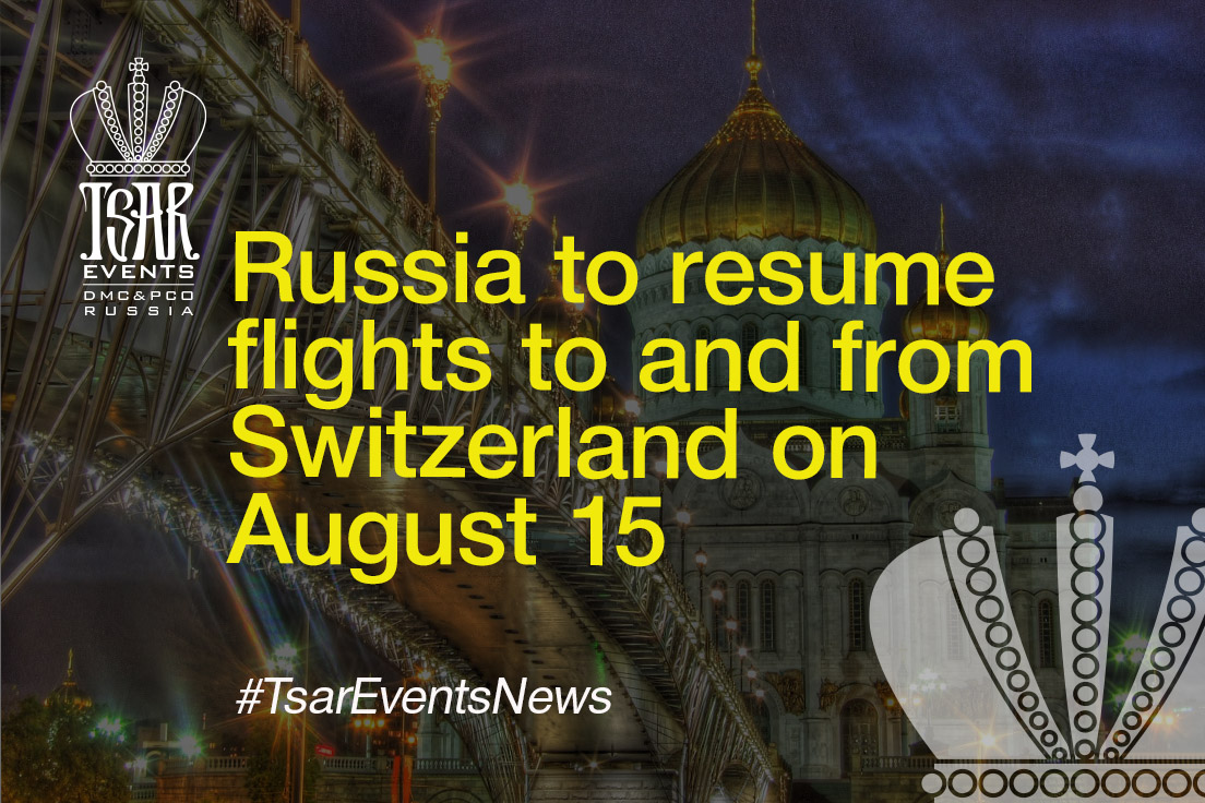 Russia to resume flights to and from Switzerland on August 15