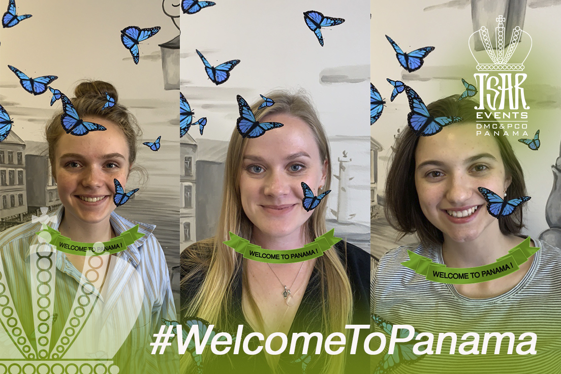 "Tsar Events Panama DMC & PCO Team has created Instagram Mask ""Welcome to Panama"" to raise awareness about Panama Travel Potential"