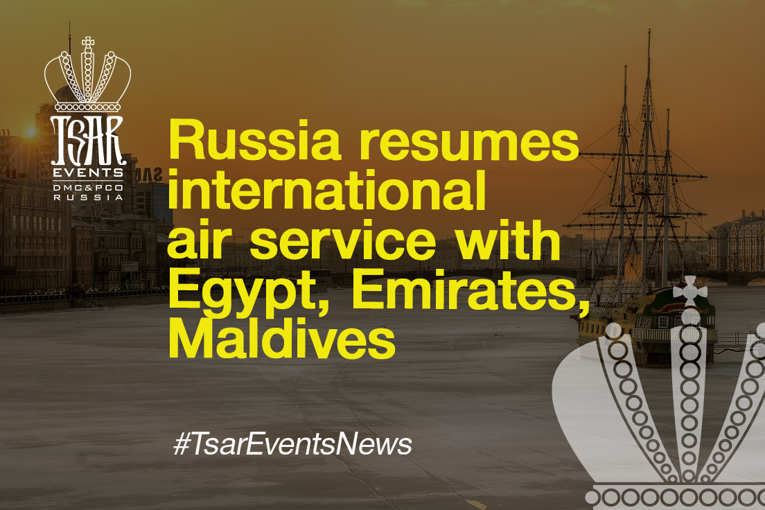 Russia resumes international air service with Egypt, Emirates, Maldives