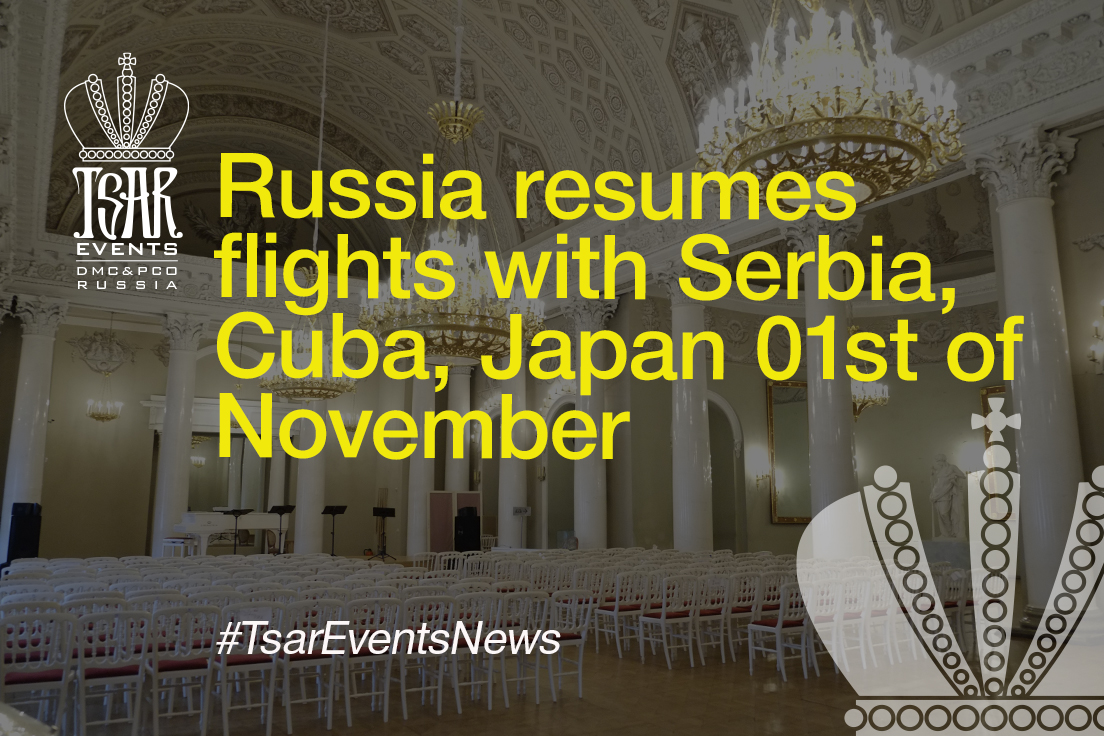 Russia resumes flights with Serbia, Cuba, Japan 01st of November
