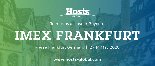 You're Invited to join us and Hosts Global as a VIP with our IMEX Frankfurt Hosted Buyer Group Wednesday, 13th May & Thursday, 14th of May