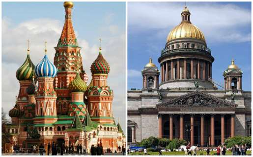 Moscow VS St. Petersburg. Part 1. Architecture