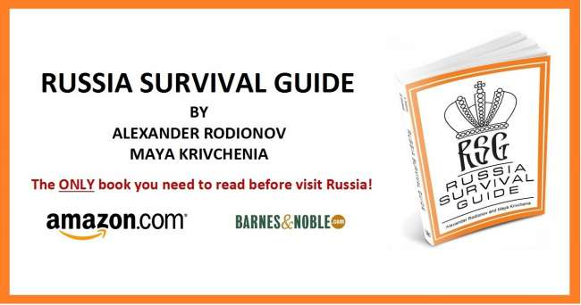 Russia Survival Guide Book written by Alexander Rodionov, founder and director of Tsar Events DMC & PCO