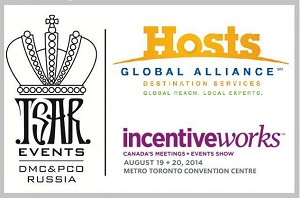 MEET TSAR EVENTS DMC & PCO DURING INCENTIVEWORKS IN TORONTO IN AUGUST - BOOTH #641/643